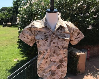 Boys Military Inspired MARPAT-style Digital Camo Shirt