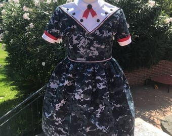 Girl's NWU Vintage Reproduction Dress