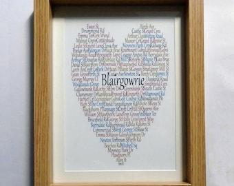 Blairgowrie Print, Framed or Unframed, Blairgowrie Scotland, Claire Kirkpatrick