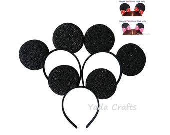 Sparkly Minnie Ears Mickey Ears Minnie Mouse Ears Mickey Mouse Ears Headbands,Disney,Birthday  Costume Party Celebration/Halloween