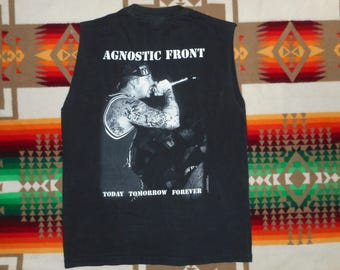 90s Agnostic Front T Shirt Sz M cro-mags minor threat hardcore madball sick of it all minor threat 235