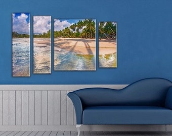 large pictures for living room wall. Seascape  Extra Large Wall Art Beach Palms Sea Painting large wall art Etsy