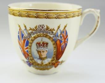 Royal Commemorative Teacup, Coronation of King Edward VIII, China Teacup, English China,  1937,