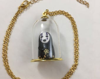 Studio Ghibli Kawaii No Face Kaonashi Necklace