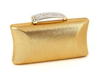 Crystal Horn Clutch Evening Bag