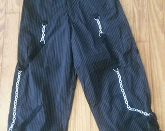 Ghast Size Small Pinstripped Rave Pants