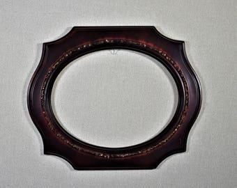 11x14 Spandrel Oval Opening Frame Mahogany