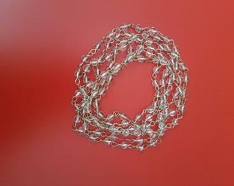 Clear beaded wrap around bracelet/necklace