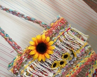 Sunflower twined purse