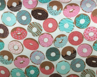 "Flannel Lounge Pants - ""icing and sprinkles doughnuts"" print"