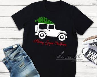 Merry Jeepin Christmas, Jeep shirt, Christmas shirt, Holiday shirt, Jeep, Custom shirt,