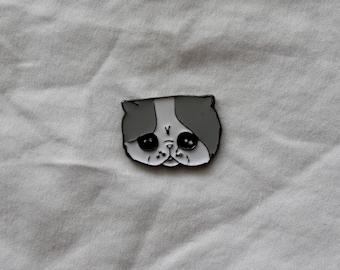 Sad Kitty - Enamel Cat Pin