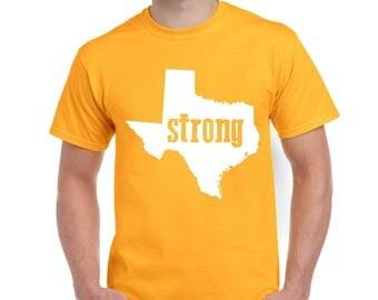 Free Shipping! Blue Tees Strong Texas Popular Saying Motto Chant Xmas Birthday Party Gift 4 BFF Men's T-Shirt Tee