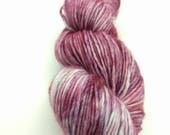 Yarn - Wine Colorway-  Superwash Merino Wool- Hand Dyed - Knit - Crochet - DK Squishy Singles