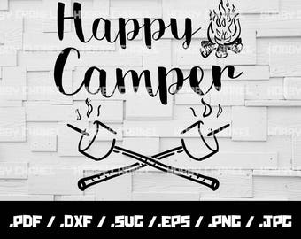 Happy Campers SVG Camping SVG Happy Campers SVG Arrow svg Camp Fire svg Vector for Silhouette Cricut Cutting Machine Design Download Print