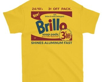 Andy Warhol 'Brillo Box' (Yellow) T-Shirt
