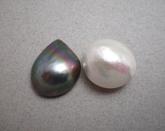 Mabe Pearls / Choice of Mabe Pearls / Iridescent Mabes