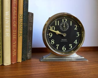 Westclox Big Ben Wind-Up Alarm Clock, Style 2, Nickle Case with Luminous Dial