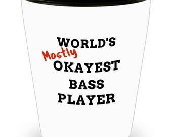 Bassist Gift Musician Shotglass Bass Player Gift Bass Player Case Rock and Roll Bass Guitar Musician Bass Player Gifts Shotglass