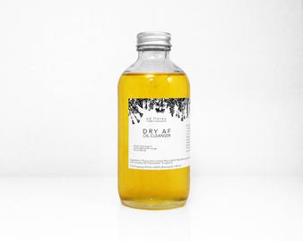 Oil Cleanser: DRY AF - facial oil, oil cleansing method, Canadian skincare, natural skincare products, beauty products Canada