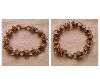 On Sale Vintage Flower Bracelet