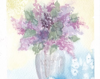bouquet 32 - original watercolor painting