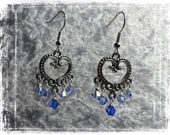 "Earrings ""Lili"" silver and Swarovski Elements Crystal"