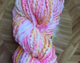 Handspun Art Yarn, Superwash Merino & Nylon