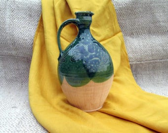 wine decanter ceramic pitcher clay pitcher ceramic decanter rustic water pitcher lemonade pitcher wine pitcher jug ceramic clay jug wine jug