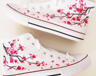 Japanese Blossom Hand Painted Shoes