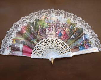 Vintage Fan with Spanish theme