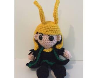 Loki Amigurumi Crochet Doll