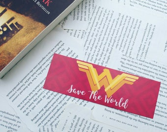 "Wonder Woman ""Save the Word"" Bookmark"