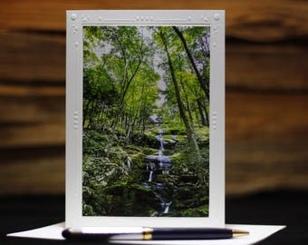 Photography cards, Photography Note Card, Landscape Photography, Blank Note Cards, Greeting Cards photography, Waterfall, Nature Photography