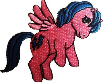Patch/Ironing-flying pony My Little Pony-pink-7.7 x 6.4 cm-by catch-the-Patch ® patch appliqué applications for ironing application patches patch