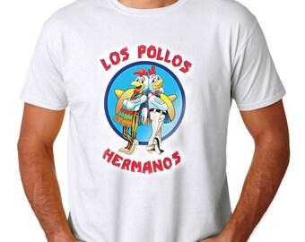 LOS POLLOS HERMANOS T-Shirt - Better Call Saul Breaking Bad Blu Funny Tee - Walter White Crystal Meth Lab