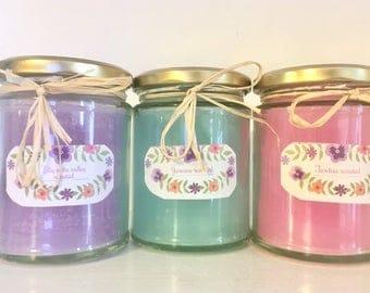 Floral Jar Candles