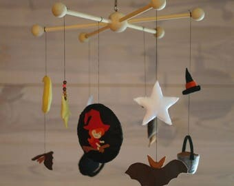 """""""the little witch"""" baby mobile"""