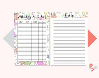BIRTHDAY GIFT Log Mini Happy Planner Printable Insert, Create 365, Happy Planner Mini Inserts, MAMBI Planner, Instant Download