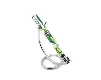 Pen, Gold, Green, White, Rollerball Pen, Pen Case, Gift Box, Acrylic Pen, Graduation Gift, Gift for Her, Girlfriend Gift, Gift for Him