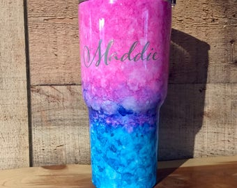 Alcohol Ink Tumbler/Can Cooler/Bottle - Custom Tumbler/Can Cooler/Bottle - Stainless Steel Tumbler/Can Cooler/Bottle