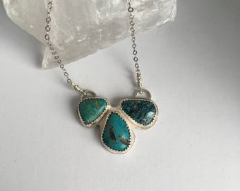 Sweetheart Collection, Triple Kingman Turquoise Necklace