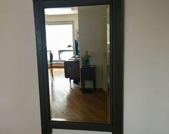 Trumeau mirror fireplace grey 145 x 87 Luberon 1900