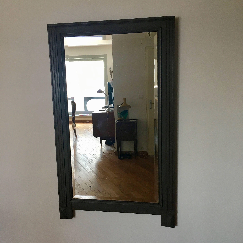 trumeau miroir chemin e gris 145x87 luberon 1900. Black Bedroom Furniture Sets. Home Design Ideas