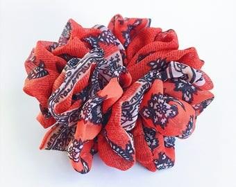 Chiffon Scrunchies, Ponytail holder, Red Scrunchies, Hair Scrunchie, Hair Tie, Scrunchie
