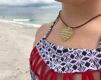Sea foam green sea glass necklace :)