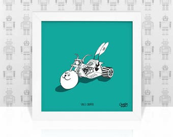 Space Chopper - Original Hand Drawn Illustration