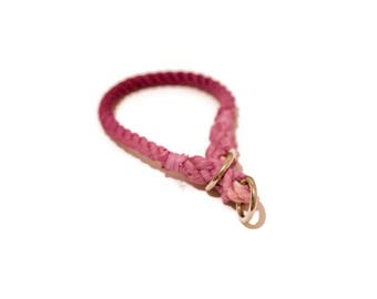 Ombre Rope Dog Collar