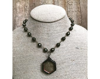 Soldered Pyrite Necklace