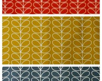 Retro - Orla Kiely Fabric - Linear Stem - Three  colourways- Sold per metre perfect Stock - Retro Designer Fabric